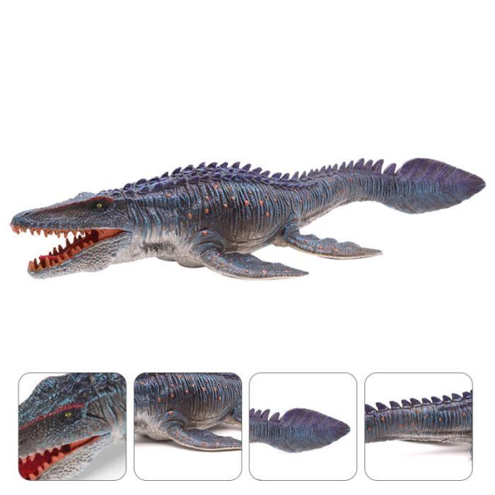 1PC Jurassic World Dinosaure Modèle Jouet Vivid Plésiosaure Solide Décoration (Bleu) PIECE DETACHEE DRONE
