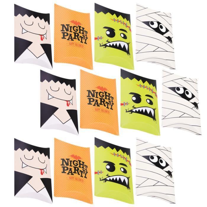 20pcs Boîte de rangement cadeau de dessin animé Traitement des boîtes de pour bonbons cremeux confiserie chocolat