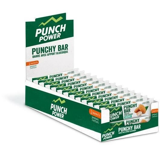 PUNCH POWER PUNCHY BAR AMANDE - PRÉSENTOIR 40 BARRES