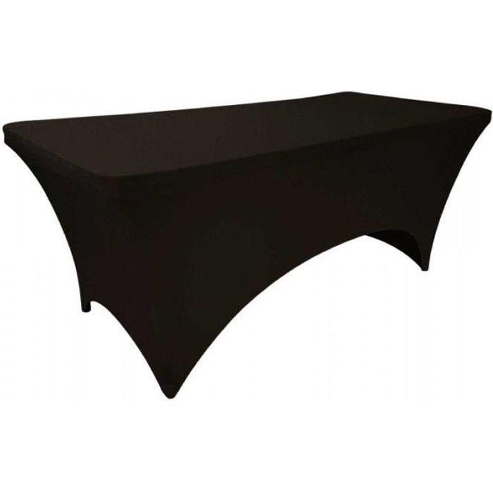 Housse de table de jardin Spandex - Noire