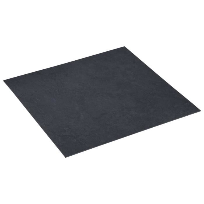 LAG Planches de plancher autoadhésives 5,11 m² PVC Noir Marbre