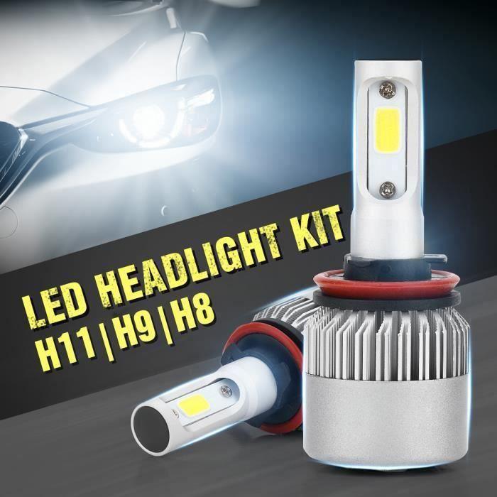 CW12333-1 paire H8 - H9 - H11 LED Phare de voiture Lampe à faisceau élevé Lampe automobile 40W 8000LM 6000K