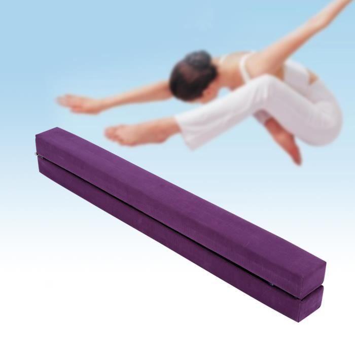 7FT Suede pliant Poutre gymnastique Gym Matériel de formation dur Le port DE-Violet-CY