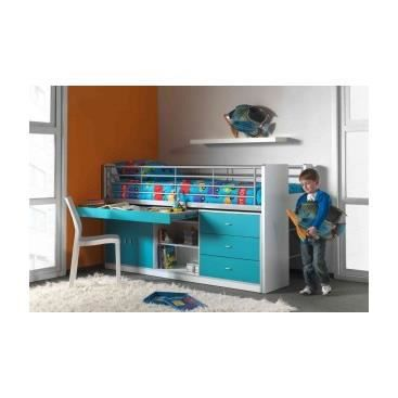 lit enfant multifonctions savane bleu clair achat. Black Bedroom Furniture Sets. Home Design Ideas