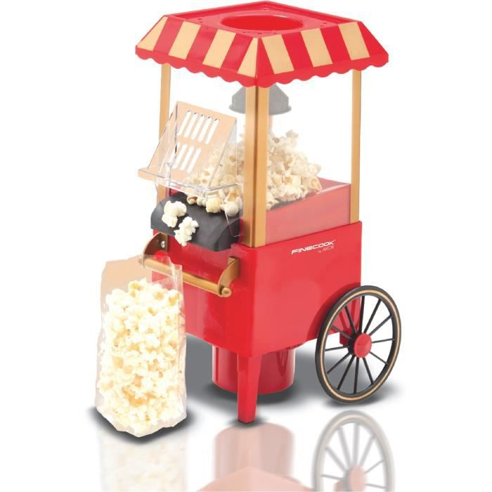 MACHINE À POP-CORN ÉLEC MACHINE À POPCORN À AIR PULSÉ. ROUGE