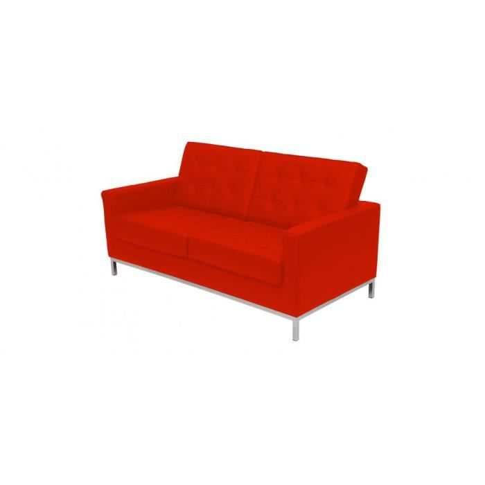 Canap design inspir florence knoll 2 places achat vente canap cana - Canape florence knoll ...
