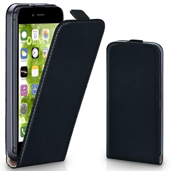 coque iphone 7 clapet cuir noir 1348x ref 3