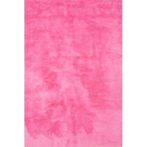 tapis contemporain pilepoil rose fushia 140 x 200 cm fausse fourrure fabrication fran aise. Black Bedroom Furniture Sets. Home Design Ideas