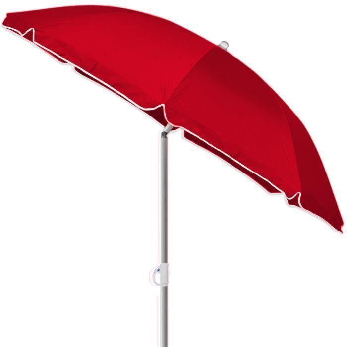 Kingsleeve Parasol Parasol De Plage Rouge 180cm Réglable Inclinable Hydrofuge Solide Plage Camping Jardin Balcon Achat Vente Parasol Kingsleeve Parasol Parasol Cdiscount