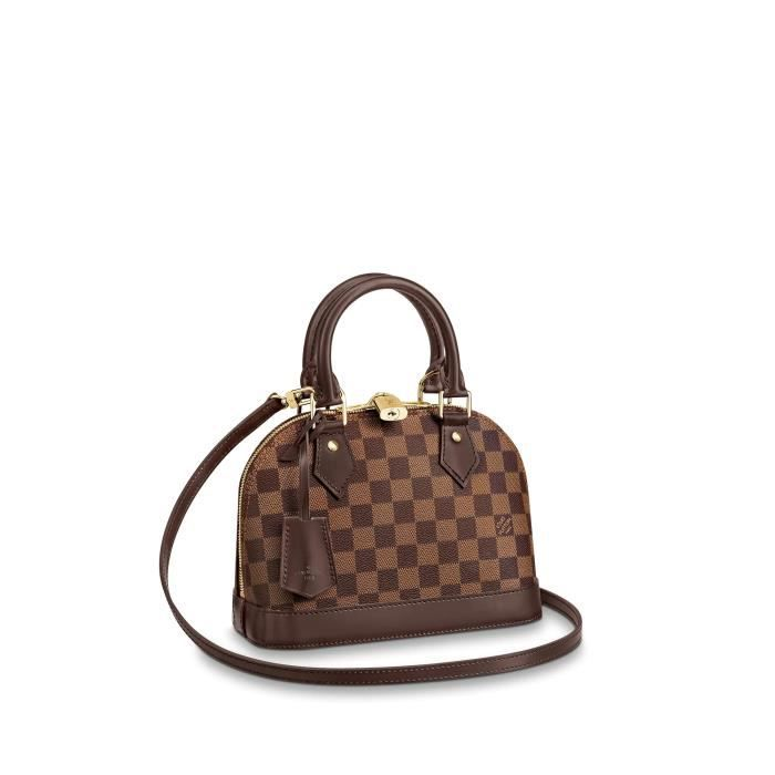 Louis Vuitton Pochette Alma pour Femme Sac a Main LV Toile Damier ...