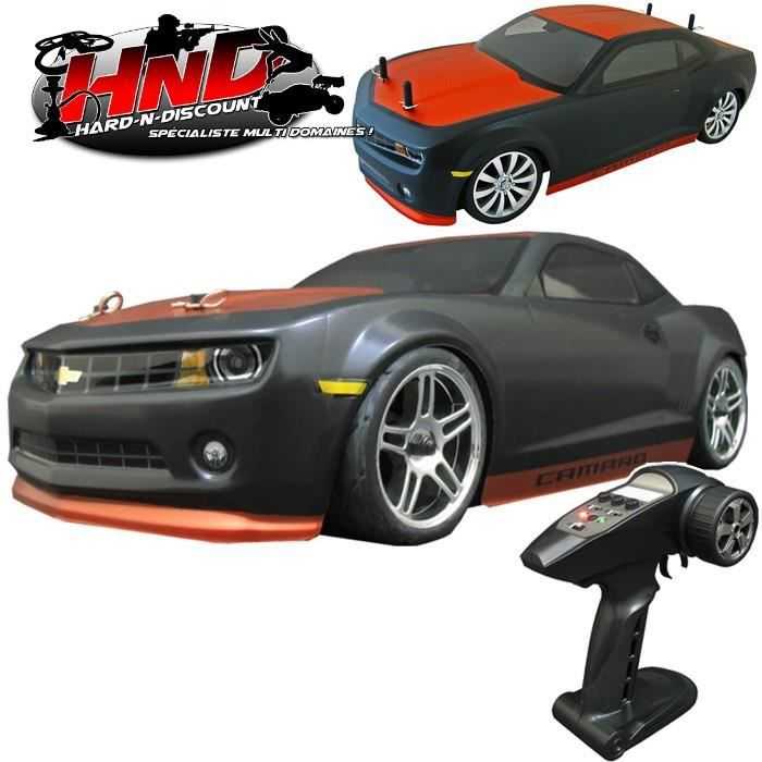voiture thermique radiocommand e chevrolet camaro 2010 piste 4wd 1 10 me rtr prix pas. Black Bedroom Furniture Sets. Home Design Ideas