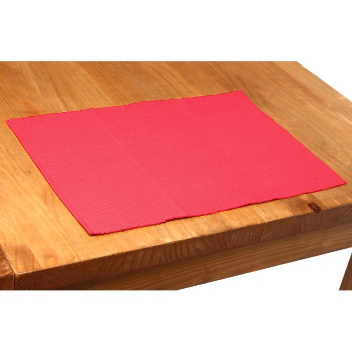 Set de table cot 33x47 lot de 4 framboise achat vente for Set de table plastifie personnalise