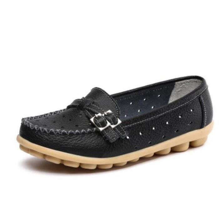 De Chaussures Mode En Respirant Marque Luxe Moccasin Loafer 2019 Nouvelle Femmes Grande Femme Cuir Taille Chaussure 1lTFKJc
