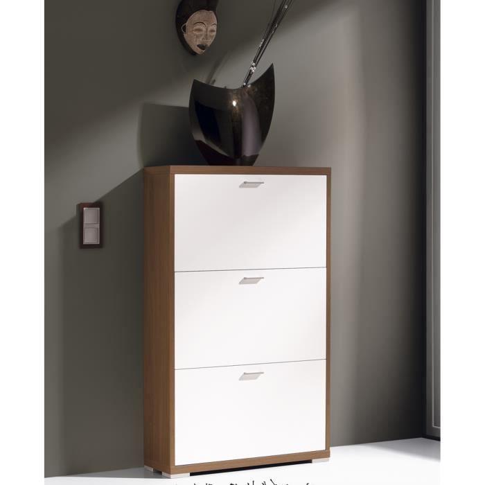 COMMODE DE CHAMBRE Commode à chaussures avec 3 portes, en bois colori
