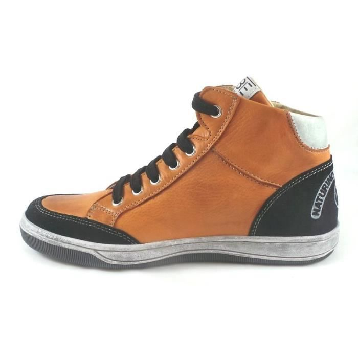 Naturino Baskets Cuir Garçon Orange (32 - Médium - orange)