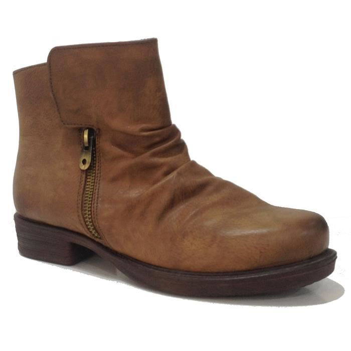 ☼ELEN☼ Bottines camel - FRANCESCO MILANO - Ref: 0410