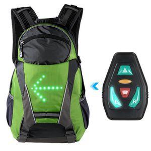 VUP Plus Pliable Cyclisme Sac à dos avec DEL Signal Lumière Télécommande sans fil