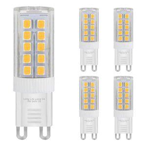 AMPOULE - LED Lot de 5 ampoules LED G9 5 W Blanc chaud équivalen