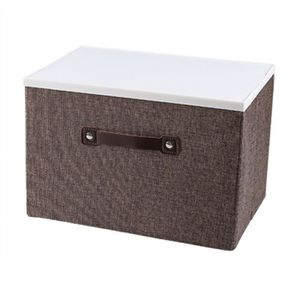 BOITE DE RANGEMENT Boîte de rangement Coton et lin Couvercle Boîte de