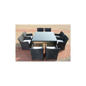 Magnifique salon de jardin madagascar table & 8 fauteuils en ...