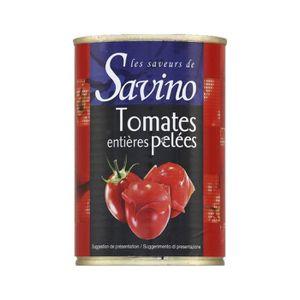 KETCHUP ET ASSIMILÉ Tomate entière pelée au jus Les Saveurs de Savino