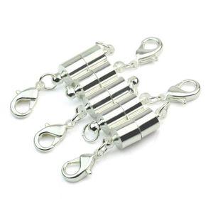 APPRÊTS  5x Fermoirs Magnétique Plaqué Argent Pr Bracelet C