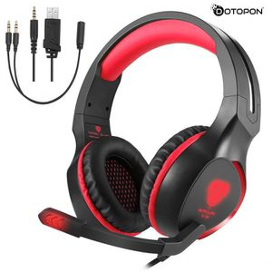 KIT DE TRANSCRIPTION Dotopon®SL-100 3.5mm Game Gaming Headphone Headset