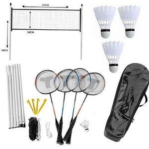 KIT BADMINTON Jeu Kit de Badminton 4 Joueurs Extérieur Plein Air