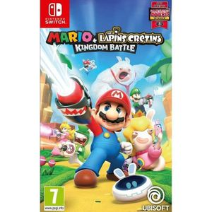 JEU NINTENDO SWITCH Mario + The Lapins Crétins Kingdom Battle Jeu Swit