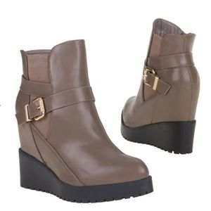 BOTTINE boots bottillon bottines style compensées gris fem