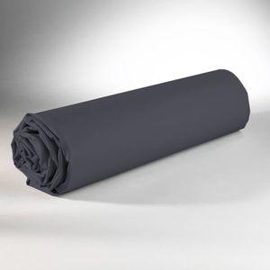DRAP HOUSSE Drap Housse 180 x 200 cm 100% coton - Gris