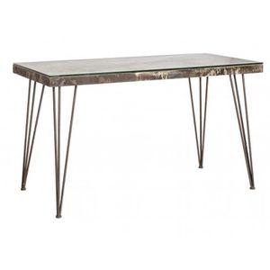 BUREAU  Bureau en bois de MDF et métal - Dim : L 130 x P 6