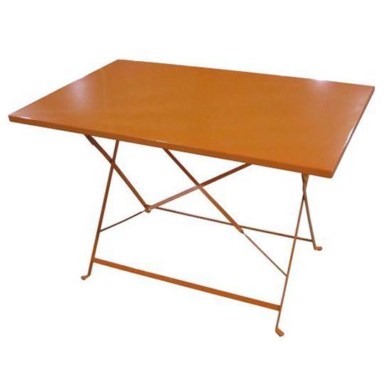Table de jardin pliante Camargue 110 x 70cm Orange - Achat ...