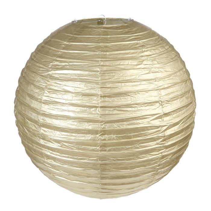SANTEX Lanterne métallisée L or