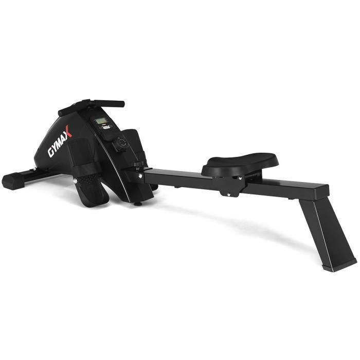 COSTWAY Rameur d'Appartement Pliable à Résistance 10 Niveaux avec Ecran LCD Charge Max 120KG Musculation des Bras/Cardio-Training