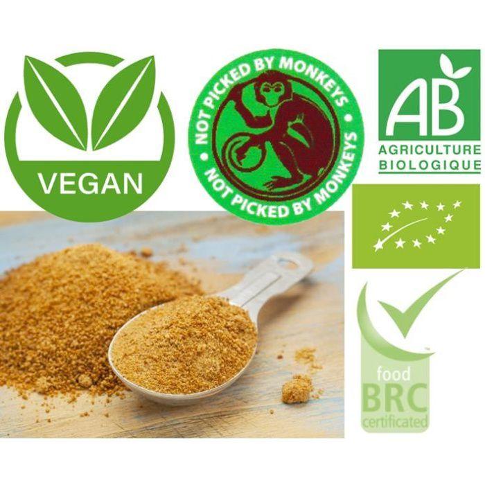 Sucre de fleur de coco Bio - 1 kg * Issu de l'agriculture biologique
