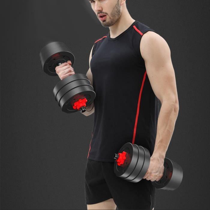 Kit Haltères musculation professionnel réglable avec barre, pour entrainement domestique