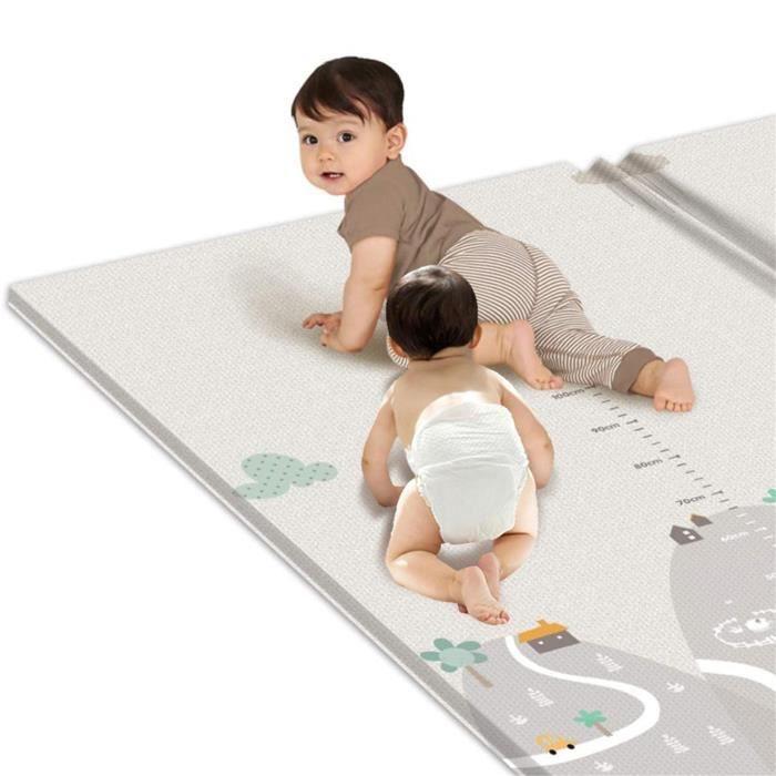 Keaiweni® Tapis de jeu pour enfants tapis de yoga rampant double épaisseur tapis imperméable 200 × 180 _kea68