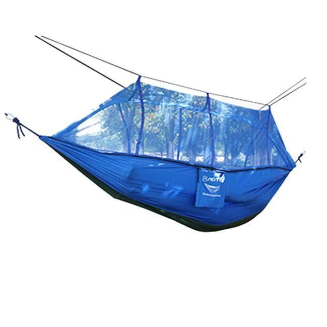 Hamac de parachute de 2 personnes double plein extérieur solide jardin de patio de jardin BU_LY * 249