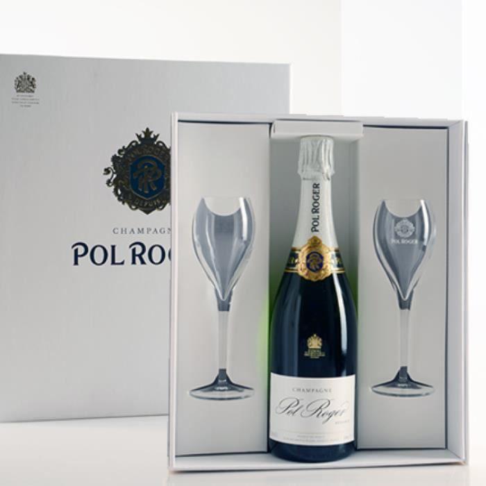 Champagne et Méthode Traditionnelle - Champagne Pol Roger Brut Reserve - Bouteille 75cl Blanc