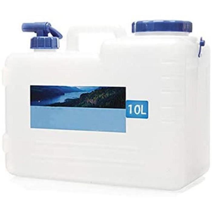 Bidon eau poche a eau Bidon avec Robinet d'eau et Couvercle éTanche Camping en Plein Air Voiture Seau d'eau Transporteur d'eau
