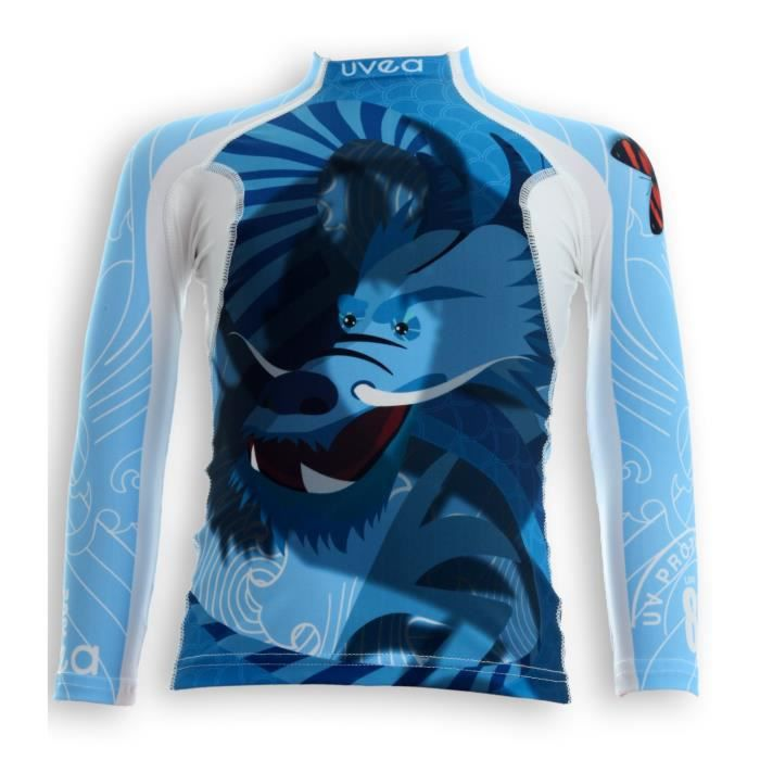 UVEA Teeshirt rashguard anti UV 80+ maillot manches longues INDIANA - Taille 9/18 mois - Imprimé dragoon