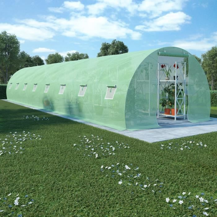Décor🍓Haute qualité- Serre de Jardin Serre à tomates- SERRE DE JARDINAGE Balcon Terrasse - Tunnel serre de jardin 36 m² 1200x7182