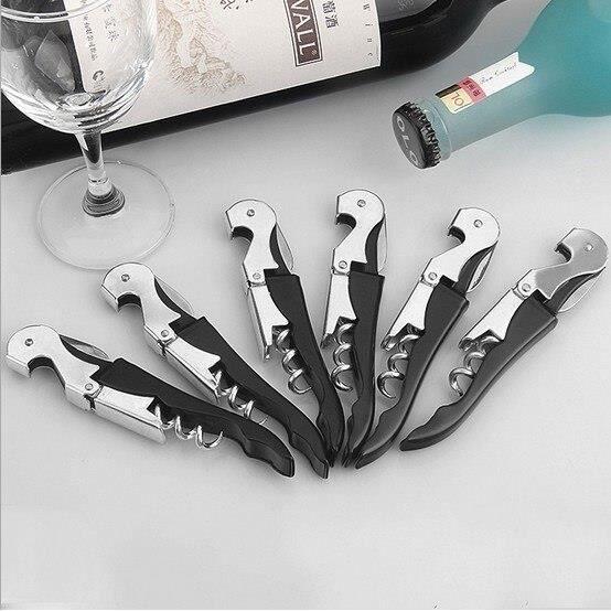 Ouvre-bouteille de vin en acier inoxydable - Vis corkier Double charnière serveurs vin ouvre-bouteille Hipp - Modèle: - WMKPQA10309
