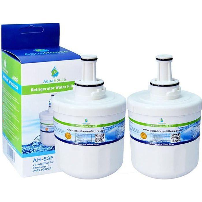 2x AH-S3F filtre à eau compatible pour Samsung réfrigérateur DA29-00003F, HAFIN1/EXP, DA97-06317A-B, Aqua-Pure Plus, DA29-00003A, DA