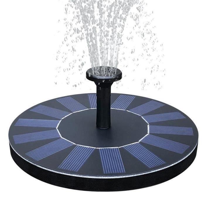 Fontaine Solaire Pompe Piscine 1.4W Panneau Solaire Pompe à Eau Flottante Solaire pour Bassin - Piscine - Décoration de Jard Ve28632