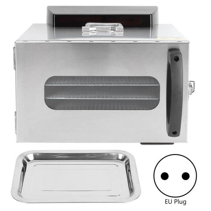 Tbest Séchoir d'aliments Mini machine intelligente de dessiccateur de légumes de fruits de déshydrateur de nourriture d'acier
