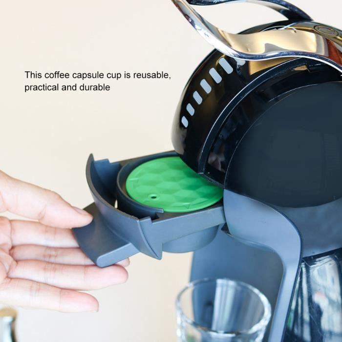Accessoires réutilisables tasse filtre capsule café d'acier inoxydable adaptés à DOLCE GUSTO-CER QUI5927