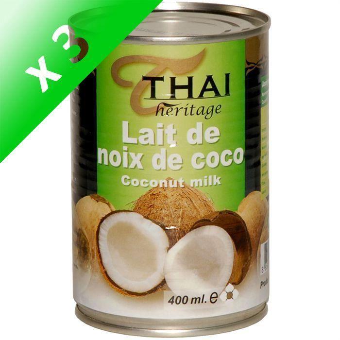 [LOT DE 3] Lait de noix de coco