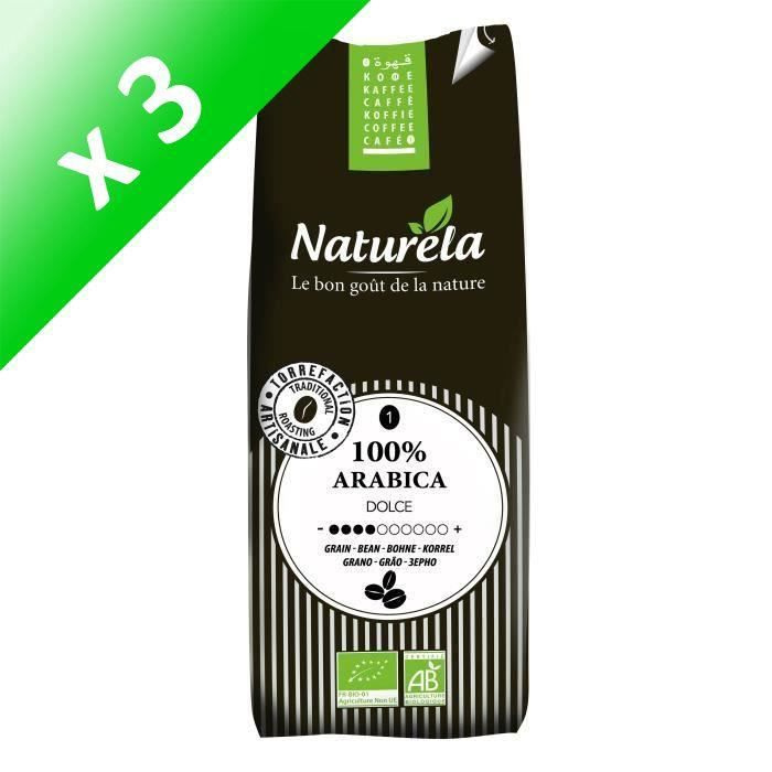 [LOT DE 3] Café pur arabica bio grain 250g